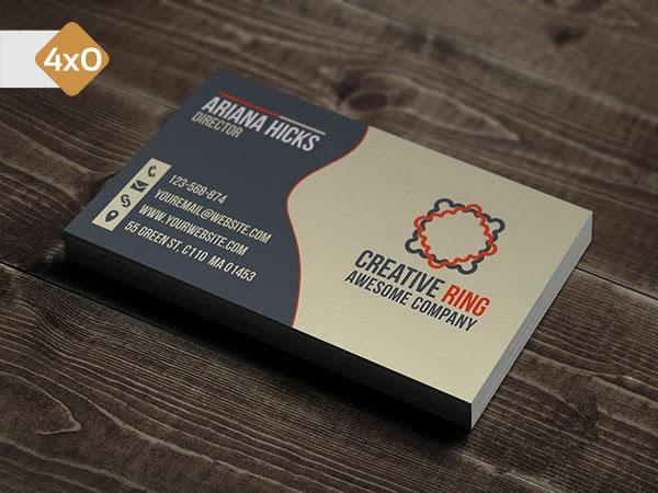 cartões de visitas cartão de visita 4x0